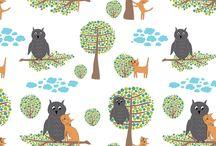 Fabric, wallpaper designs
