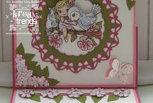 Kaarten gemaakt voor Kreatrends / Kaarten die ik heb gemaakt voor Kreatrends. www.kreatrends.nl / by Giny Bakker