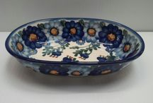 Candy Dishes / Small Bowls - Polish Pottery / Oven & Microwave & Dishwasher Safe Polish Pottery Small Bowls& Candy Dishes