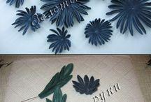 FLORES DE TELA / manualidades con flores