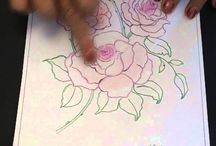 EzyShaid Colour's roses colouring tutorial.