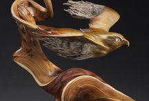 Art Sculpture 1 & Carved / Wood__Bone__Cork__Paper-Books__Fabric