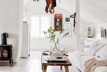 Farmhouse Style Home Decor / Clean, simple farmhouse inspired decor with some scandinavian tendencies.