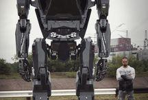 Robot man inside