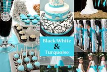 blue and turquise