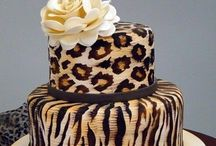Animal Print Cakes