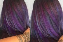 Capelli viola scuro