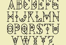 Ornaments, patterns, letters and others.