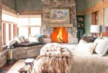 Rustic Bedrooms / Warm colors, cozy throws and fireplaces abound on this board.