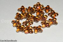 CLOVERLEAF BEADS 6X9MM, 4X7MM / https://www.etsy.com/shop/TheCzechGlassBeads?ref=hdr_shop_menu