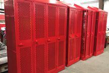 Eden Prairie HS - Eden Prairie, MN #DeBourgh #Lockers / #AngleIron #CodeRed #DiamondPerforation #5KnuckleHinge #SentryOneLatch #ClosedBase #SlopeTop #Lockers #DeBourgh