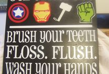 superhero bathroom