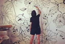 Dibujos en pared