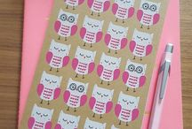 Pretty Notebooks / I have a weakness - I am drawn to all pretty notebooks and therefore have such a huge collection they no longer fit in my notebook storage box. I'm thinking I better start amassing pictures of pretty notebooks instead!