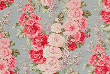 Floral & Pretty / Floral, pattern, textiles, vintage french fabrics, beautiful country style, antique design, vintage fabrics