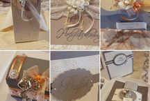 Our Handmade Wedding Decorations / Handmade Wedding Decoration directly from our shop - save the date - invitation - menu