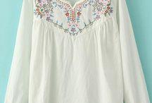 embroidy white shirt
