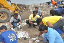 Versova Beach Clean Up Day 1 /  #WWIStudents, #WWIStaff, #WWIAlumni and residents of Versova, have taken upon themselves the responsibility to clean the Versova Beach, Mumbai. We have been actively involved in this projects since a few months now and our effort has been recognised by the United Nations. On August 6 & 7, 2016, we were again at the venue to take up the task and UN official, Lewis Pugh, ocean advocate and a maritime lawyer, joined us in cleaning the beach.