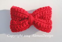 Crocheted Flowers, Bows Pattern
