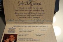 Wedding invites/save the dates/order of service etc