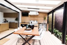 Outdoor Makeovers / Contestants, Carly & Leighton, used the Heatstrip Classic, flush mounted on their outdoor terrace.