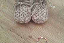 пинетки и носки вязаные