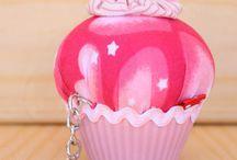 Llaveros Cupcake! / Descubre nuestra colección de llaveros cupcake realizados en patchwork