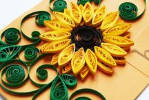 quilled sunflower