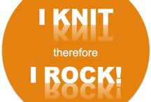 I KNIT THEREFORE I ROCK ! / Le tricot c'est FUN !