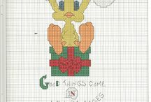 Looney tunes cross stitch