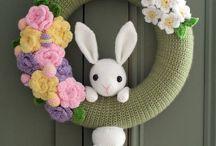 Easter wreath crochet