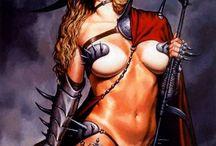 Fantasykunst Kriegerinnen