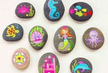 PAINTED ROCKS / Who doesn't love to paint rocks?  I love the new trend going on, where you paint a rock and leave it somewhere for other people to find. That's so fun. Hey, if you want to contribute to this board, just comment on any image. Ciao for now!