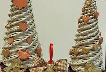 pletenie z papiera - vianoce