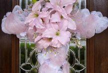 Easter front door cross /wreaths