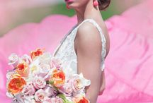 Pink Plume / Pink Plume Editorial shoot by WedLuxe Magazine. Florals by R5 Event Design