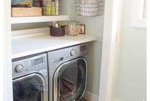 Laundry Room Inspiration / I love doing laundry...is that weird? Why not make it pretty!