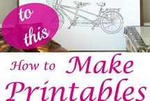 Printables / printable how to's, free image sites etc.