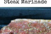 Steak marinades