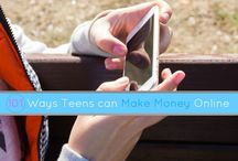 Money-Making Ideas for Teens / Sites and Tasks that teens can use to make money online.  Very easy ways that for teenagers to earn extra income at home.