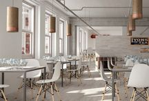 Public spaces and commercial interiors