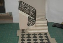 Miniature modern stairs