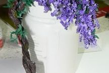 tutorials: flowers (wisteria, clematis, & lilacs) / Tutorials for miniature wisteria, clematis, and other flowering vines