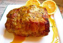 lomo de cerdo con naranja miel y mostaza