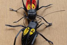3D quilling about insects