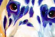 Dalmatian's and All those Spots / Dalmatians have a special place in my heart. They are funny, too smart and such loving dogs. I am a huge fan of Spots.....so included are spots of all sorts.. / by Rebecca G.