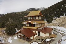 Sangdo Palri Temple / Sandgo Palri Temple of Wisdom and Compassion deep in the Sangre de Cristo Mountain Range. Custom Gold Metal Roof provided by Coated Metals Group