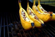 BBQ banaan / Met chocolade en rum
