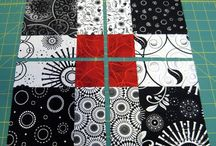 Black Red & White quilt