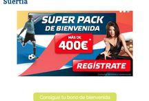 Suertia / Suertia es una de las recomendaciones de nuestra web para apuestas deportivas. https://www.lawebdeapuestasdeportivas.com/casas/suertia/